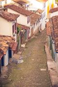 streets of the historical town Ouro Preto Brazil - stock photo