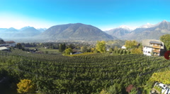 Time lapse looking down to Meran - Afternoon Stock Footage