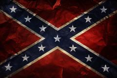 Closeup of textured Confederate flag Stock Photos