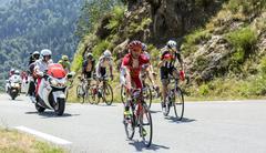 Col D'Aspin,France- July 15,2015: The Cyclist Julien Simon - Tour de France 2015 Stock Photos