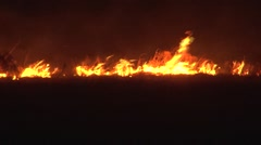 Prairie Fire Slow Motion Stock Footage