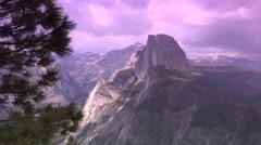 Yosemite National Park, Half Dome Stock Footage