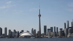 A Real time view of the Toronto Skyline on a sunny day Stock Footage