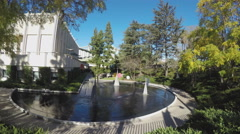 Fountains And Pool At Los Angeles County Museum Of Art Stock Footage