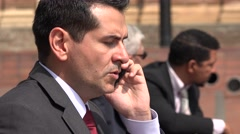 Angry Business Man Talking On Phone Stock Footage