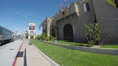 Medieval Times Castle Attraction - Buena Park CA Stock Footage
