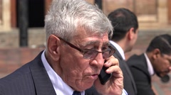 Angry Ceo Yelling At Cell Phone Stock Footage