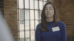 Adult female Speaking in Group Therapy session Stock Footage