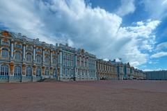 Catherine's II Palace in Tsarskoe Selo, Russia Stock Photos