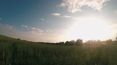 Time Lapse in a Beautiful Green Field 180 ° Stock Footage
