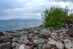 Sea of Galilee in Israel - stock photo