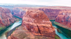 Time-lapse for Horseshoe Bend meander of Colorado River - stock footage