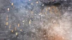 Brick Wall Explosion Gears 4K Loop - stock footage