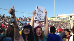 Bernie Sanders Rally in Carson, CA Stock Footage