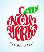 New York City. Vector lettering Stock Illustration