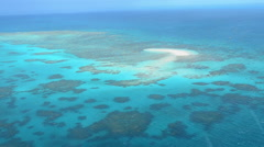 Aerial view of Oyster coral reef at the Great Barrier Reef Queensland Australia - stock footage