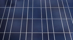 4k Solar Panel Timelapse. Clouds Reflection Stock Footage