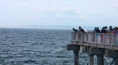 End of a Pier in Coney Island New York on a Cloudy Summer Day Stock Footage