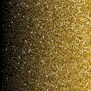 Glitter golden gradient with scattered sparkles - stock illustration