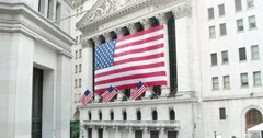 New York Stock Exchange Wall Street in New York 4k Stock Video Stock Footage