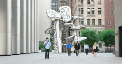 Public Art Display in New York City 4K Stock Video Stock Footage