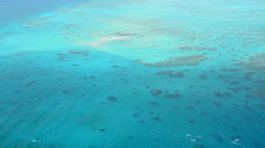 Aerial view of Upolu coral reef at the Great Barrier Reef Queensland Australia - stock footage