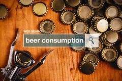 Beer consumption - web search - stock photo