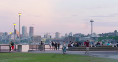 Gasworks Park in the heart of downtown Seattle, Washington Stock Footage