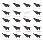 Paper white plane. The beginning of the way. Stock Illustration