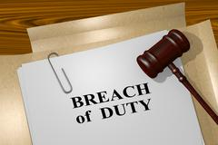 Breach of Duty legal concept - stock illustration