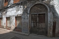 Street in Stone Town, Zanzibar. - stock photo