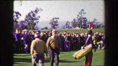 1969: Bob Hope Dean Martin at Bing Crosby National Pro-Amateur golf tournament.  Stock Footage