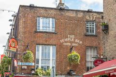 Famous pub in the Temple Bar area, Dublin, Ireland - stock photo