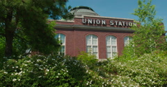 Union Station is on the National Register of Historic Places Stock Footage