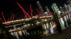 Kurilpa Bridge Brisbane tide timelapse - stock footage