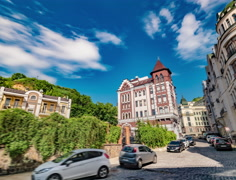 District of Elite Buildings in Kiev. Stock Footage