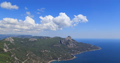 Coast of Crimea. South. Laspi Bay. TimeLapse Stock Footage