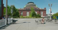 Union Station Pavillon Tacoma, Washington Stock Footage