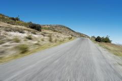 Country asphalt in blue sky in new zea land Stock Photos