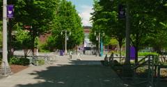 View of University of Washington, Tacoma Campus Stock Footage