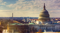 Capitol Hill Building in Washington DC with Vintage Filter - stock footage