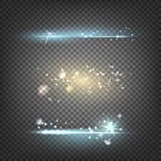 Lighting flare special effect - stock illustration