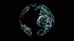 Planet with continents in the form of water Stock Footage