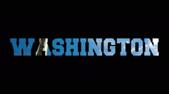 Washington letters which provides city Stock Footage