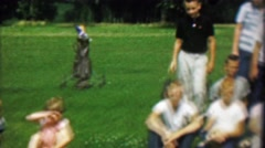 1969: Youth junior golf team historical recording posing for pictures.  CEDAR Stock Footage