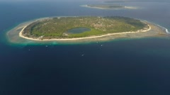 Flight Over the Gili Islands in Indian Ocean Stock Footage