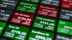 Stock market tickers background Stock Footage