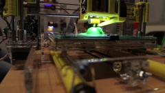 3D printer prints the item Stock Footage