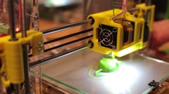 3D printer prints the item - stock footage