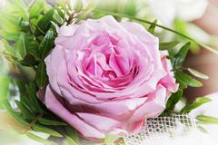 Bouquet of one pink rose, lovely gift Kuvituskuvat